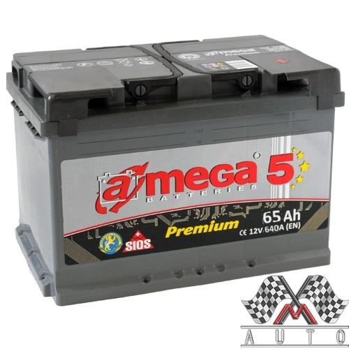 A-mega Premium 65Ач, полярность 0, пусковой ток 640А
