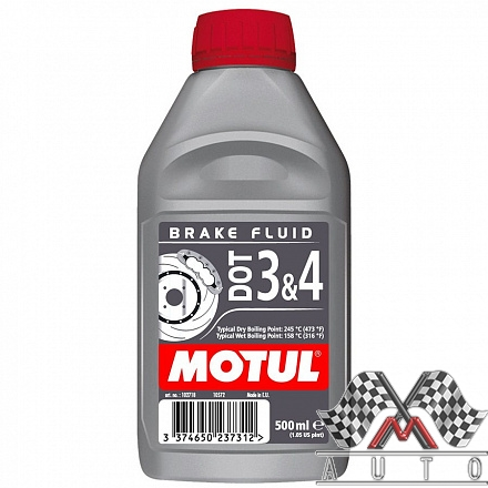 DOT 3 & 4 Brake Fluid, 0.5л