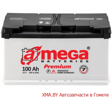 A-mega Premium 100Ач, полярность 0, пусковой ток 950А
