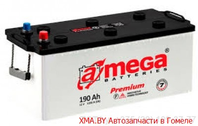 A-mega Premium 190Ач, полярность 3, пусковой ток 1200А