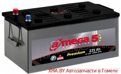 A-mega Premium 225Ач, полярность 3, пусковой ток 1300А