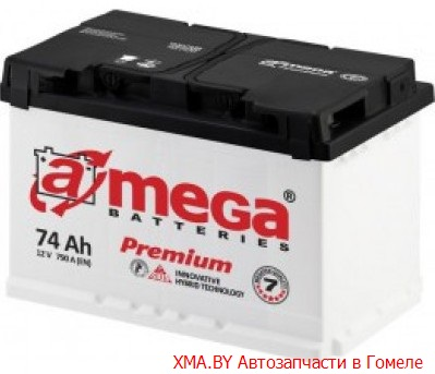 A-mega Premium 74Ач, полярность 0, пусковой ток 760А
