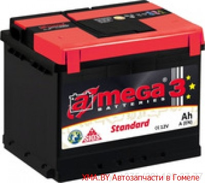 A-mega Standard 50Ач, полярность 0, пусковой ток 390А