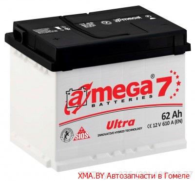 A-mega Ultra 62Ач, полярность 0, пусковой ток 610А