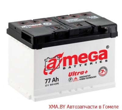 A-mega Ultra 77Ач, полярность 0, пусковой ток 810А